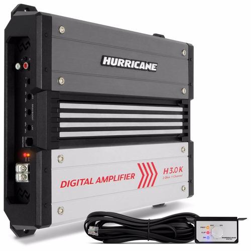modulo amplificador  h 3.0k 1 ch 3000wrms hurricane
