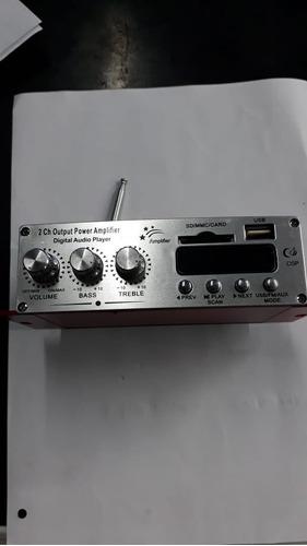 modulo amplificador ma-120 20+20w 12v usb/sd/mpm/fm