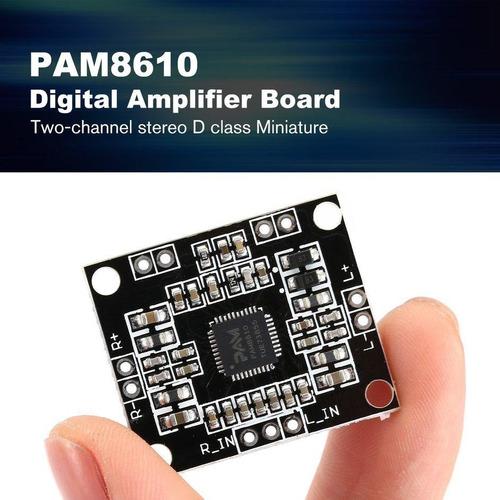 modulo amplificador pam8610 2x10w 5v a 15v arduino clase d