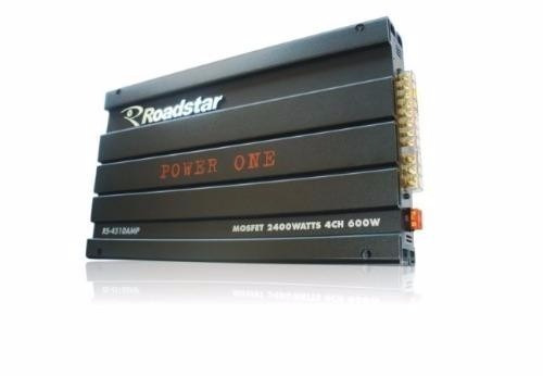 módulo amplificador power one 2400 watts rs4510amp