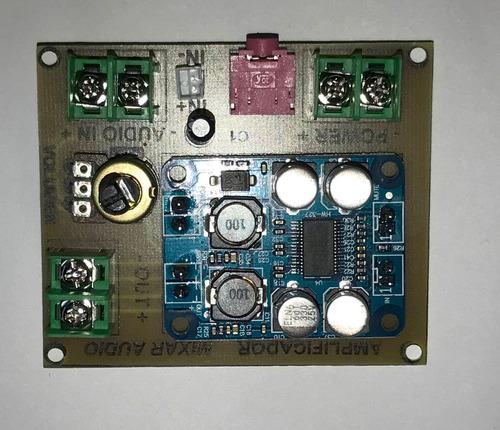 modulo amplificador sonido 50w proyecto camara dvr perifoneo