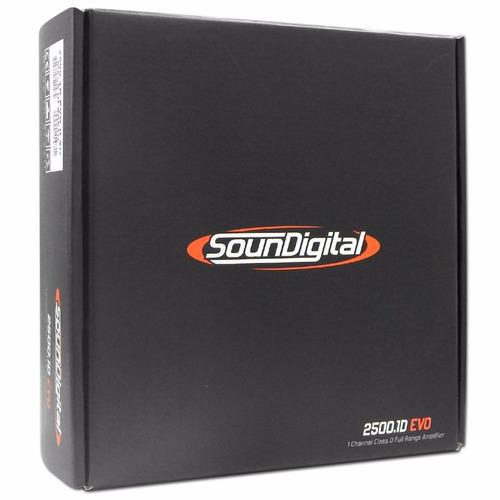 modulo amplificador soundigital sd2500.1 1 ohms linha black