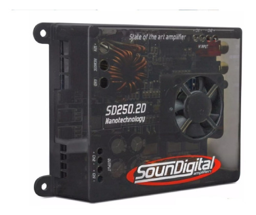 modulo amplificador soundigital sd250.2 potencia 250w sd250