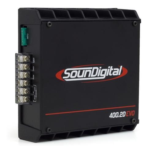 modulo amplificador soundigital sd400.2 mono estereo novo
