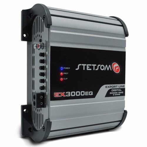 módulo amplificador stetsom ex3000 rms 2 ohms 1 canal mono
