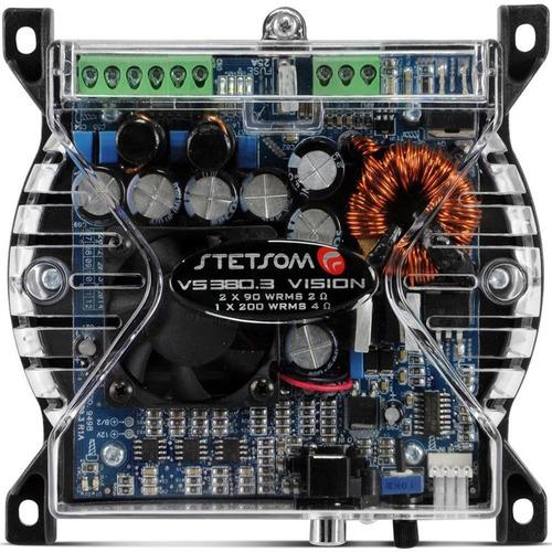 modulo amplificador stetsom vision vs380.3 + frete grátis