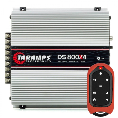 módulo amplificador taramps ts-800x4 + controle tlc-3000