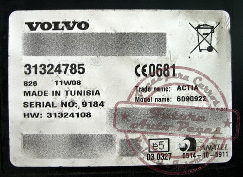 modulo atendimento telefonico 31324108 p volvo xc60 s60 v40