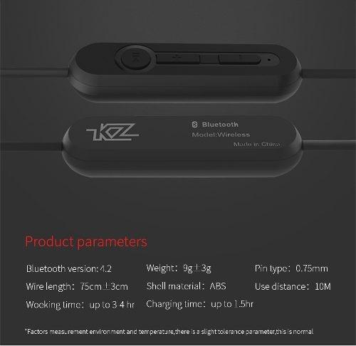 módulo bluetooth + cable plata para kz zst/ed12/es4/zsr/zs10