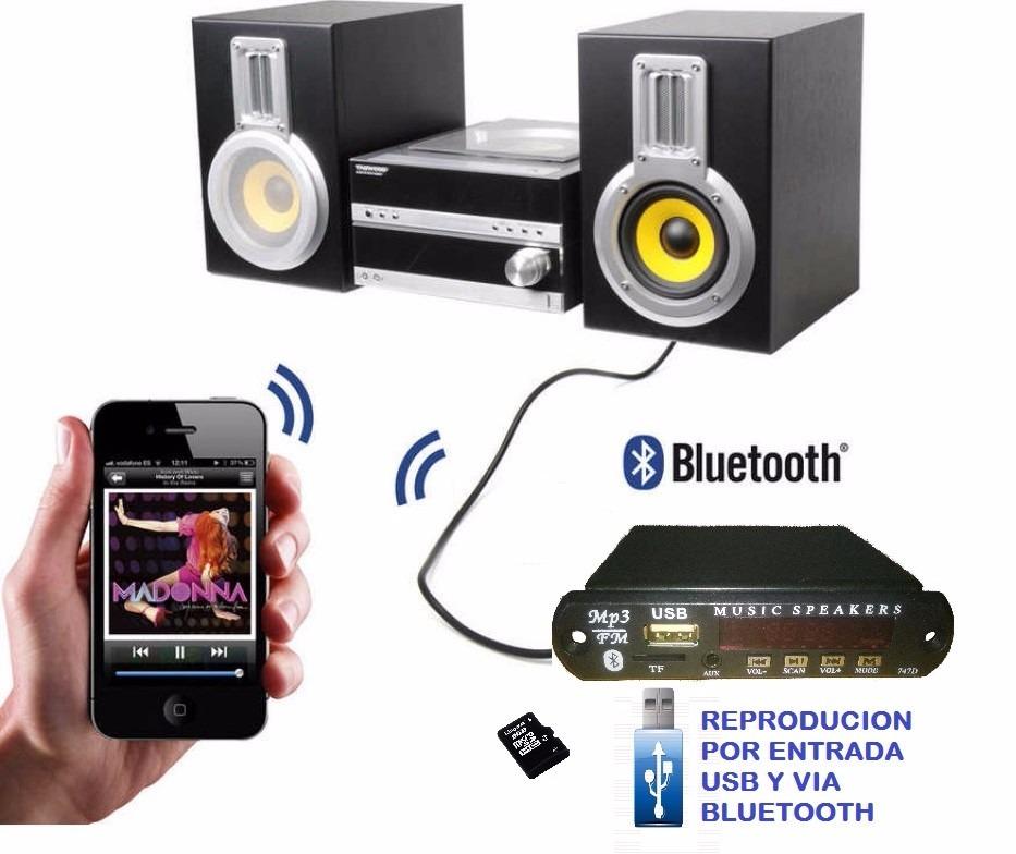 Modulo bluetooth con usb y radio para equipos antiguos s 79 98 en mercado libre - Equipo musica casa ...