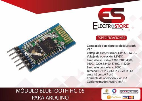 módulo bluetooth hc-05 arduino pic avr maestro esclavo
