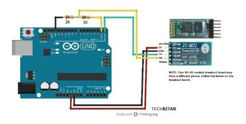 módulo bluetooth hc-05 (master/slave) para arduino