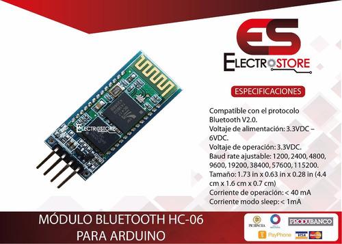 módulo bluetooth hc-06 arduino pic avr esclavo