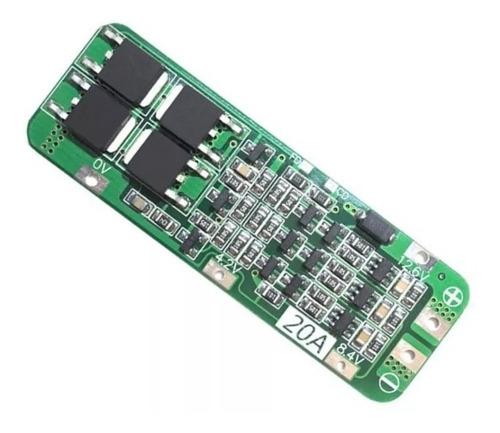 modulo bms cargador baterías litio 18650 en serie 3s.