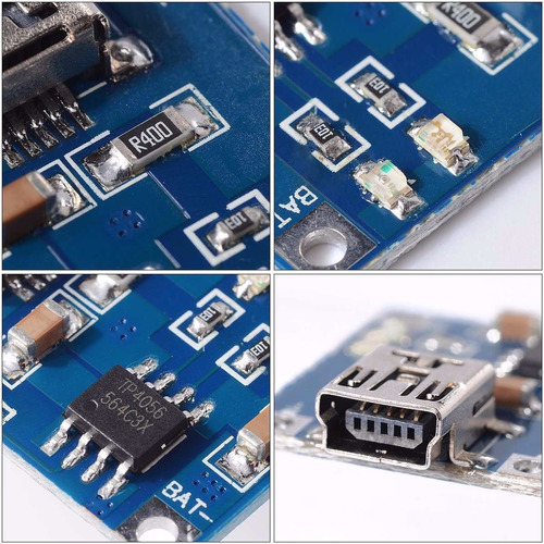 modulo carga mini usb 5v 1a 18650 tp4056 bateria litio