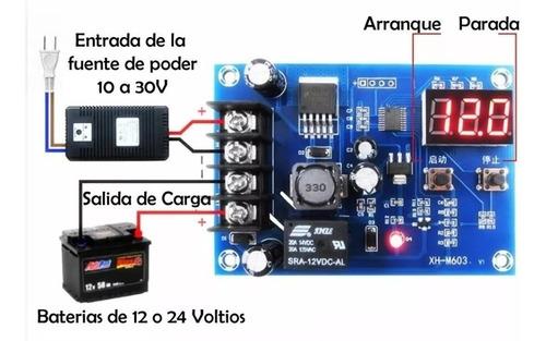 modulo cargador de bateria carro camion xh-m603 12 24v