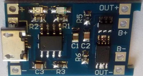 modulo cargador tp4056 1alitio 18650 microusb con protección