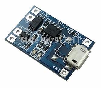 módulo carregador baterias lítio tp4056 protect 5v 1a 18650