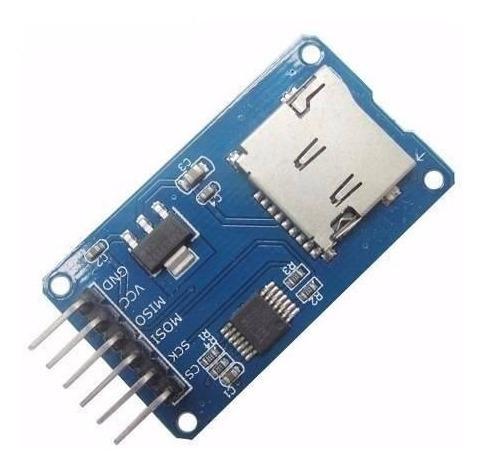 módulo cartão micro sd arduino automação pic leitor gravador