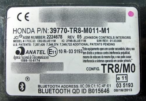 modulo central bluetooth 39770tr8m011m1 honda civic 2013