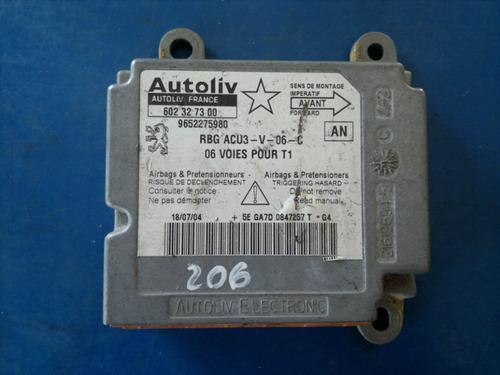 módulo central de airbag peugeot 206 9652275980 / 602327300
