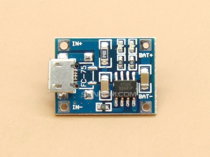 Circuito Usb : Modulo circuito cargador micro usb de baterias ion litio