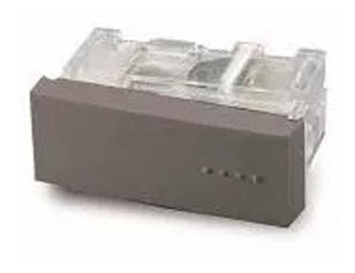 modulo combinacion tecla simple bauhaus gris cambre