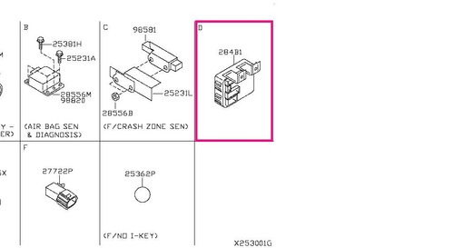 modulo controlador bcm 284b1zw20c - nissan sentra