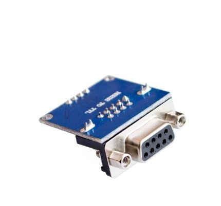 módulo conversor rs232 ttl max3232 serial db9 femea arduino
