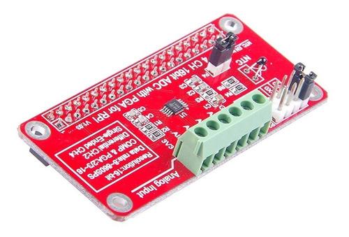 módulo convertidor analógico digital adc 16 bit raspberry pi