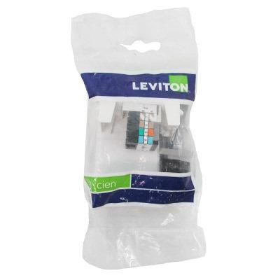 modulo datos rj45  cat. 5 blanco cien leviton.