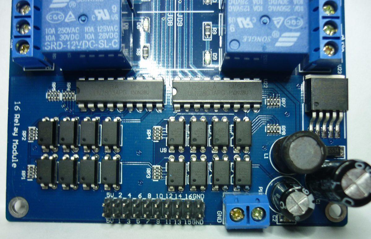 Modulo De 16 Relevadores Rele16 Optoaislados Arduino Pic Avr