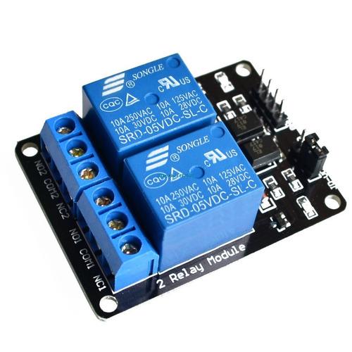 modulo de 2 relevadores, relay 5v 10a robotica arduino pic