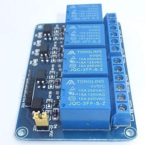 módulo de 4 relevadores aislados por optoacoplador - arduino