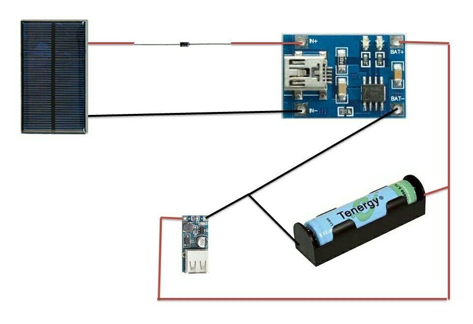 Modulo de control carga bateria litio usb arduino