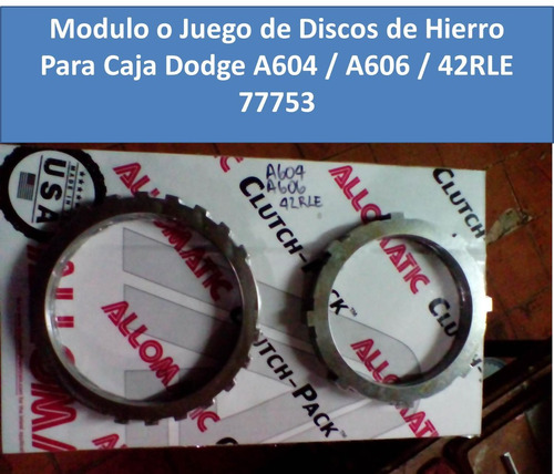 modulo de discos de hierro para caja dodge a604 a606 42rle