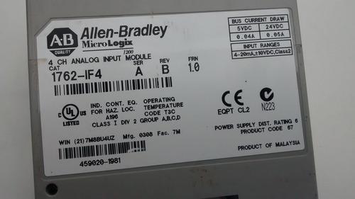 modulo de entrada analogica plcchile allen bradley 1762-if4