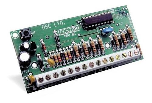 módulo de expansión de 8 salidas pgm pc5208 p/ dsc 1832