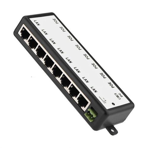 módulo de fuente de alimentación poe de 8 canales inyector p