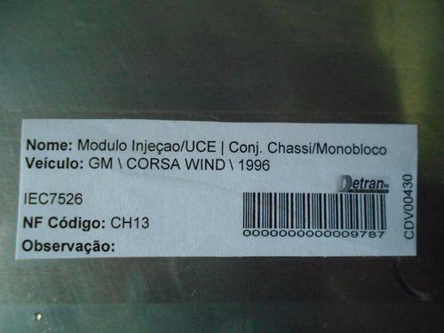 modulo de injeçao central corsa 1.0 8v efi 16211519 bmxw sb