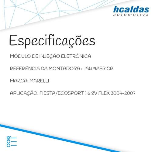 modulo de injeção ecosport 1.6 8v 04/07 -  iaw4afr.cr