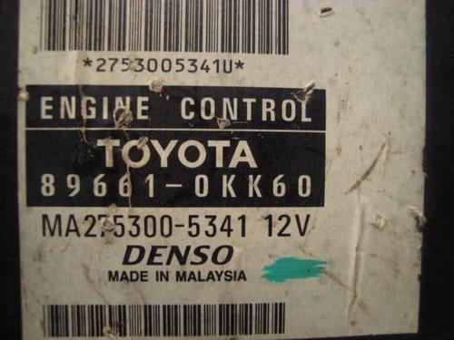 modulo de injeção toyota hilux 2.7 gasolina  89661 - 0kk60