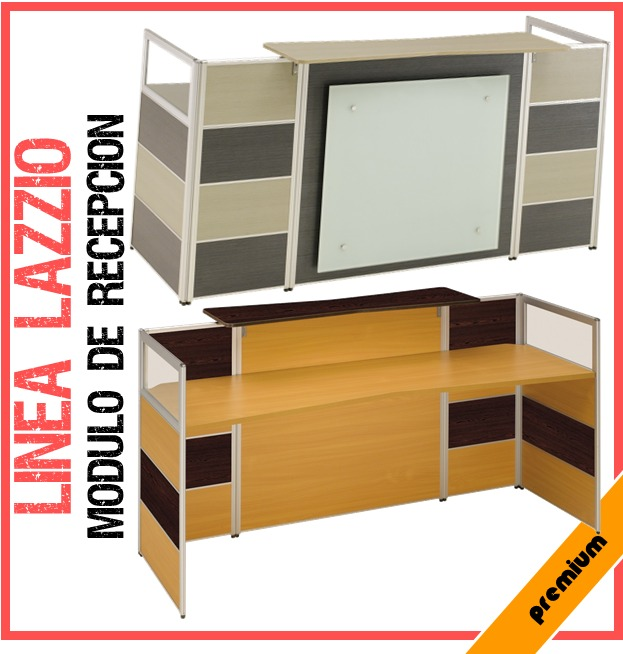 Modulo de recepci n lazzio mdf mobiliario oficinas gris for Mobiliario recepcion oficina