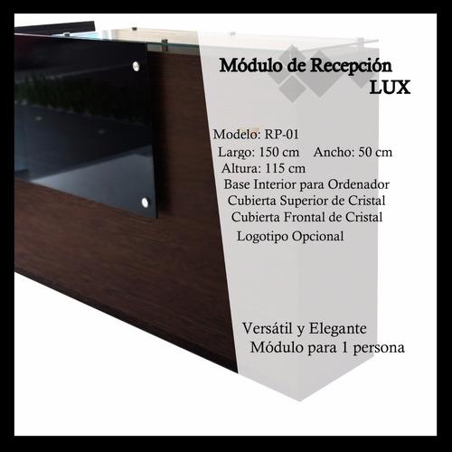 módulo de recepción lux con cristal + envío gratis