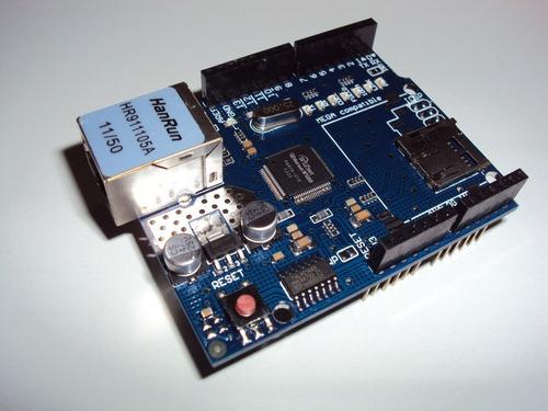 módulo de rede ethernet shield w5100 para arduino