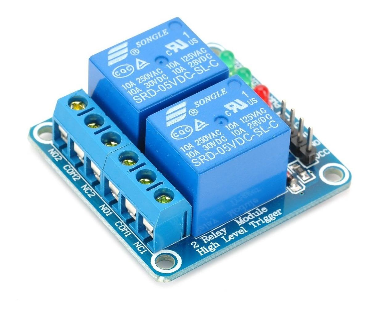 Modulo De Relés 2 Canales Para Arduino