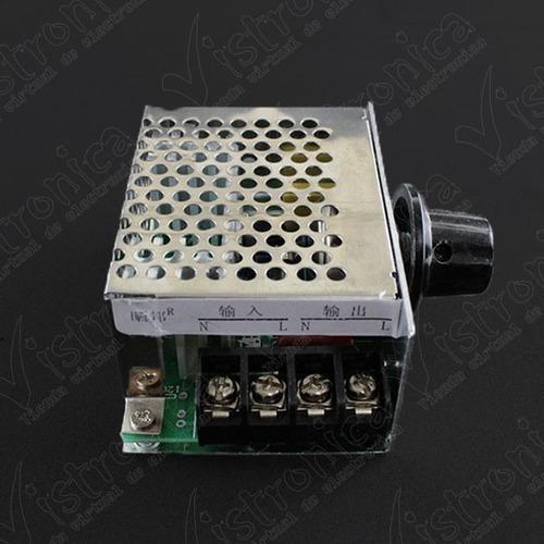 módulo dimmer 4000w con caja