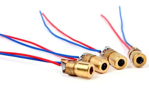 modulo diodo laser 5v 5mw rojo 650nm (3 unidades)