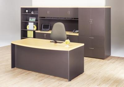 modulo directivo de oficina escritorio credenza librero