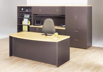 Modulo directivo de oficina escritorio credenza librero for Modulos de oficina precios